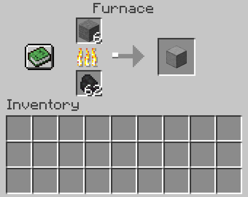 Crafting recipe for smooth stone