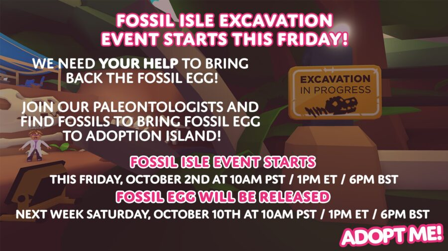 Fossile Isle Excavation event in Adopt Me