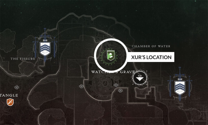 Xur Nessus Watcher's Grave Barge location map