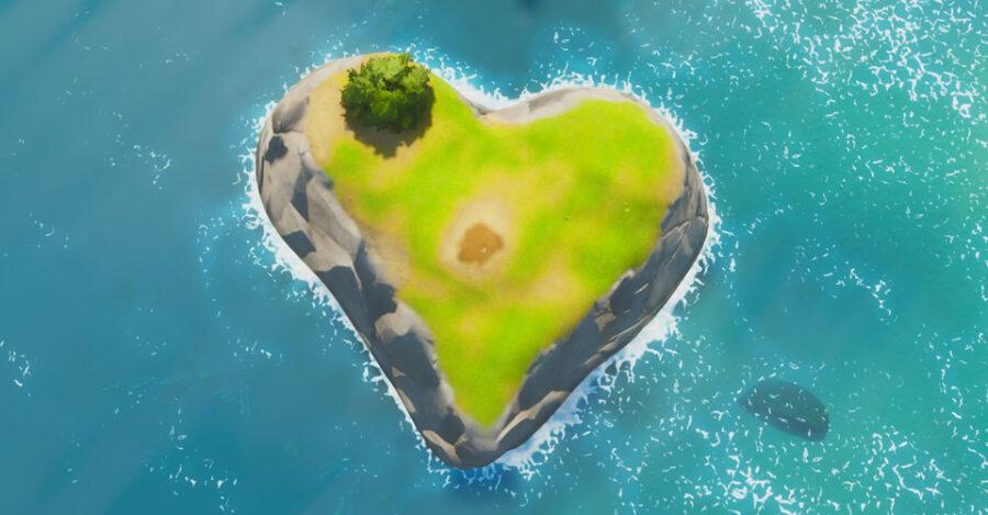 Fortnite Heart-Shaped island screenshot