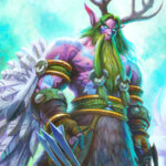 Druid's original hero portrait Malfurion Stormrage