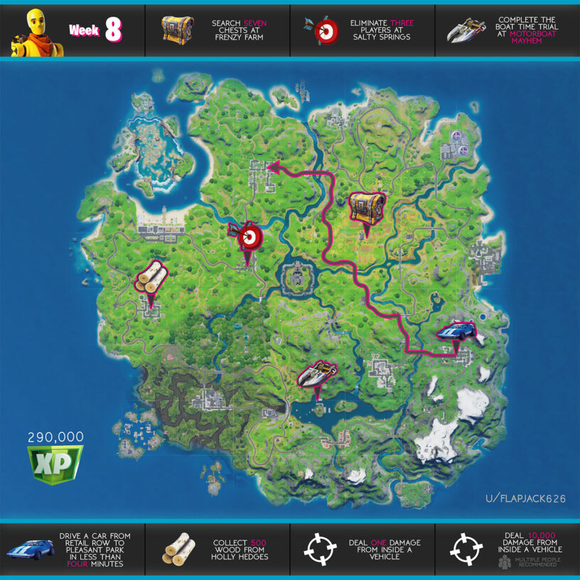 Fortnite Season 3 Week 8 Challenges Guide Cheat Sheet Pro Game Guides