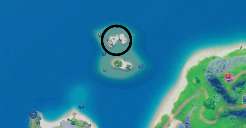 Fortnite map to Oh No... Challenge location