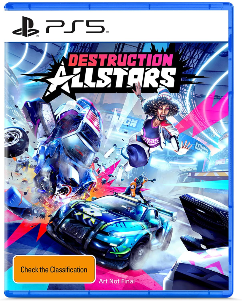 A box art palceholder for PlayStation 5 game Destruction Allstars