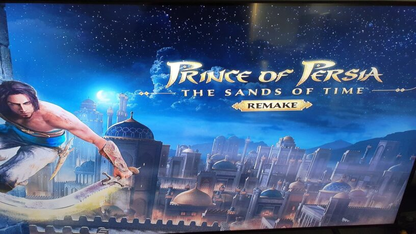 A leaked Prince of Persia Remake opening title screen