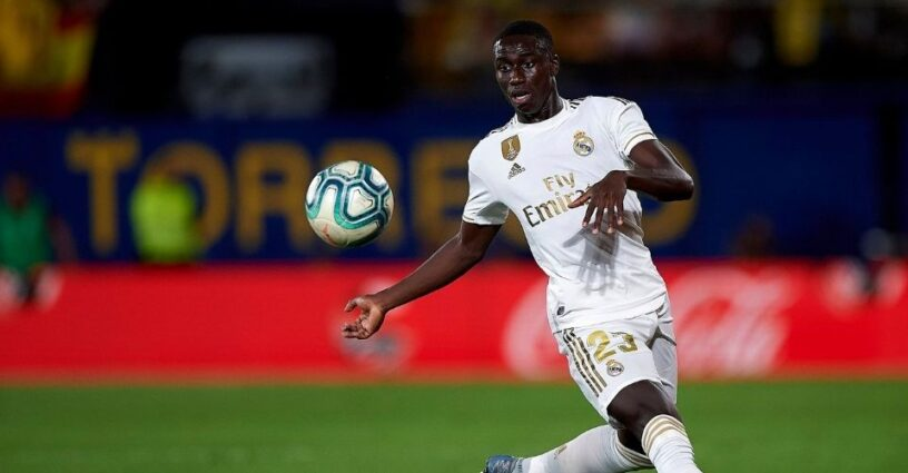 Mendy playing for Real Madrid