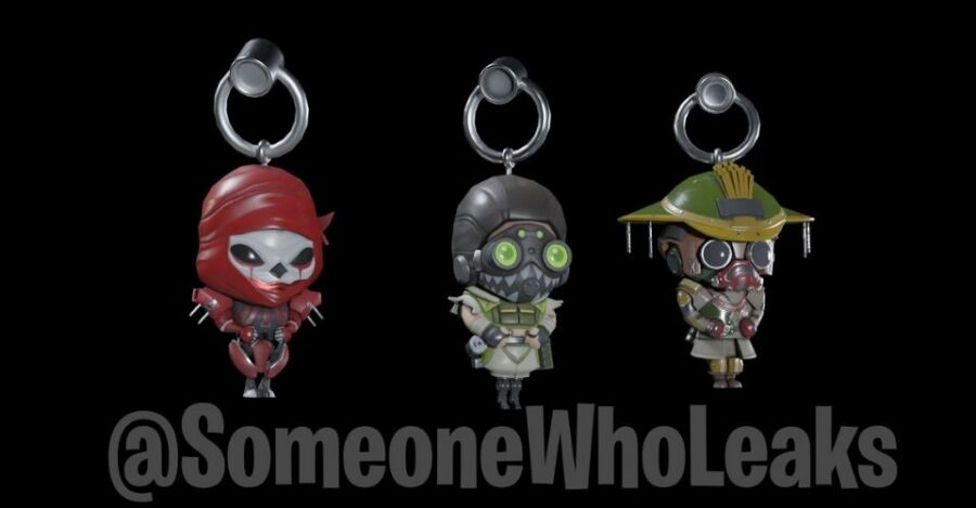 A leak of weapon charms for Halloween event in Apex Legends