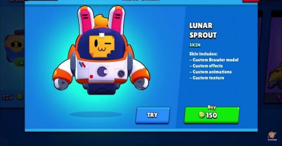 lunar sprout skin in Brawl Stars