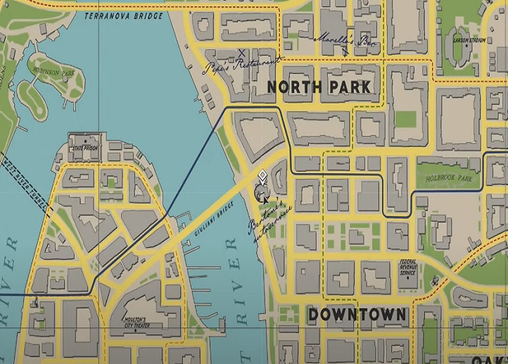 A section of the map from Mafia 1
