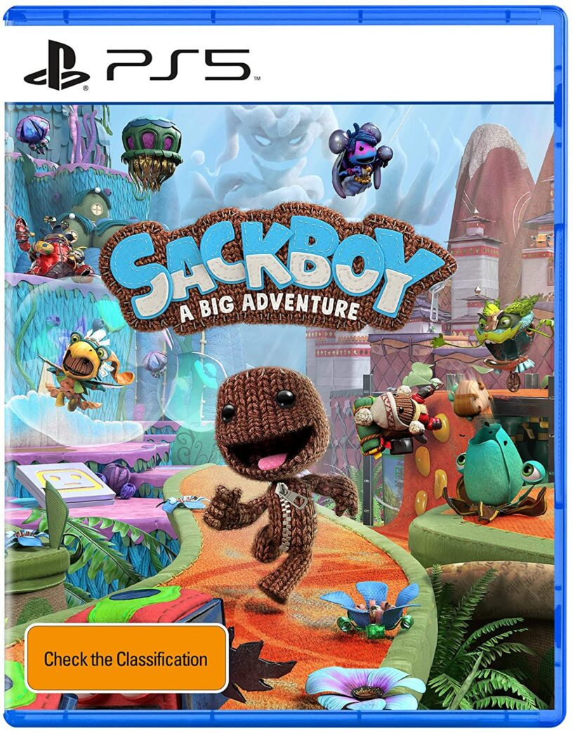 The official box art for upcoming PlayStation 5 game Sackboy: A Big Adventure