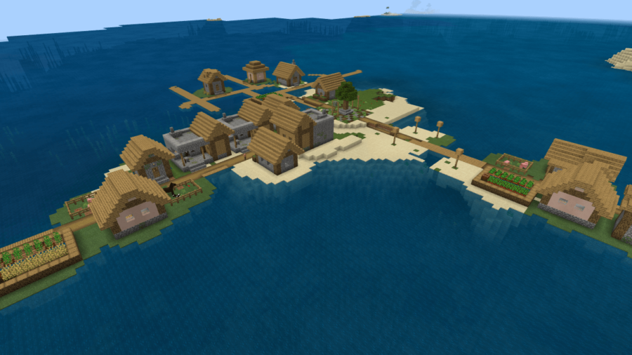 A screenshot of an island with 3 blacksmiths.