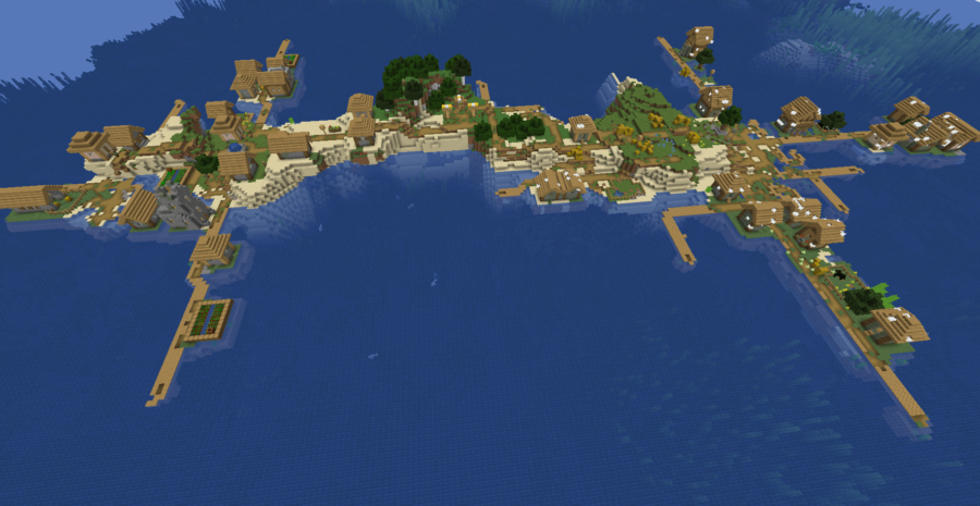 A zombie village and normal village island.