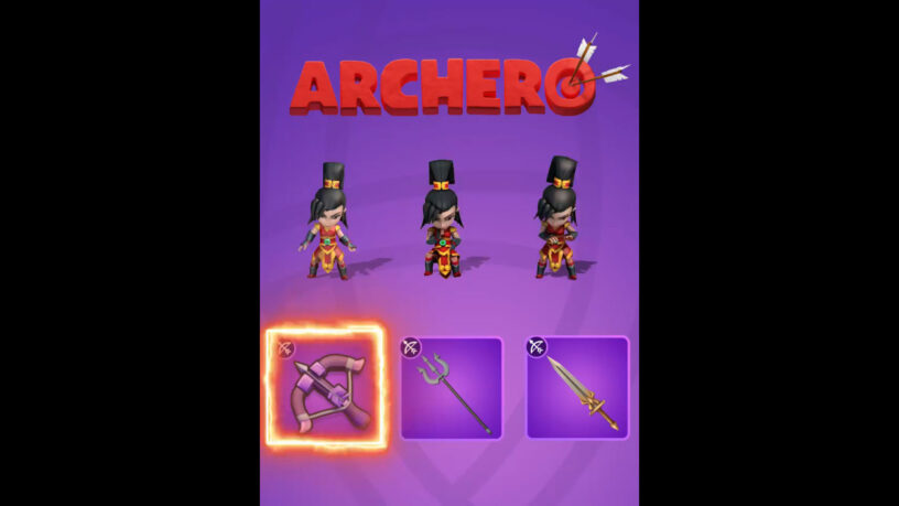 Mulan weapon choices for Archero