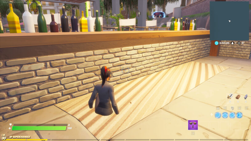 Beach ball location at the bar in Fortnite