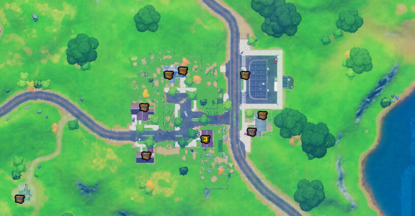 Salty Springs chest locations map