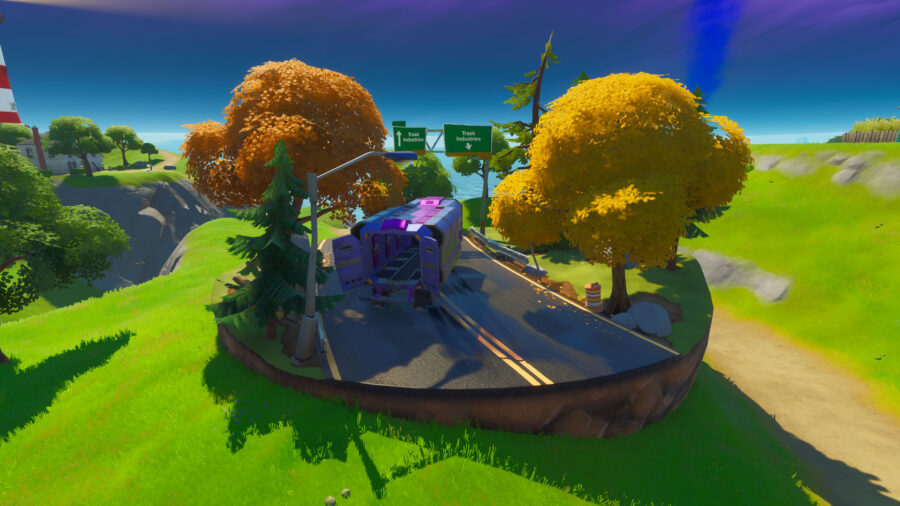 Fortnite Trask Industries truck in game