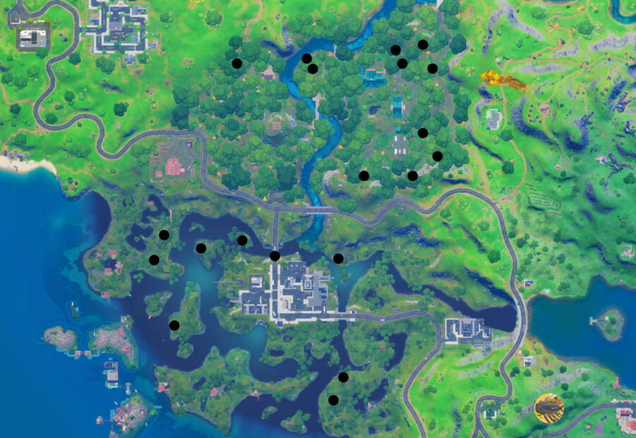 Wolverine spawn location map in Fortnite