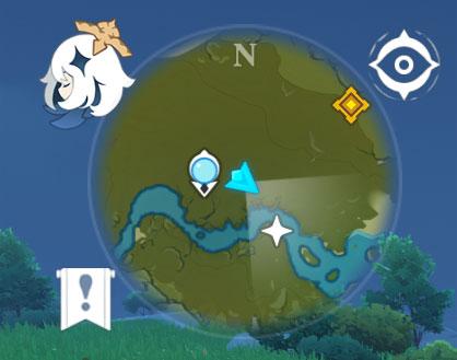 Genshin Impact mini-map star location