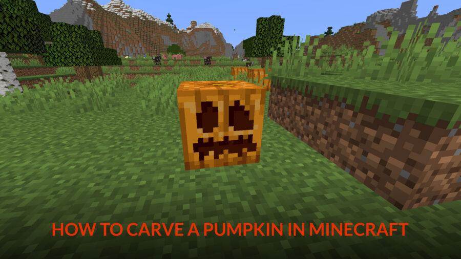 pumpkin carving in Minecraft