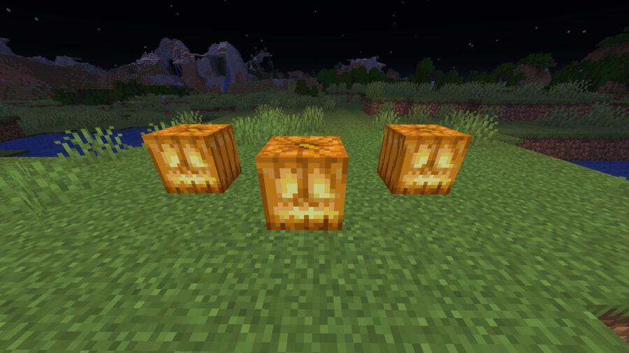 Jack o' lanterns in Minecraft
