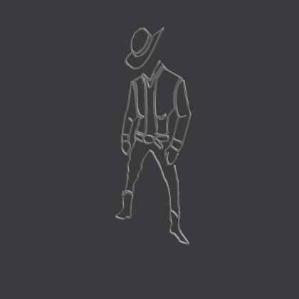 Lil Nas X cowboy mesh Roblox file