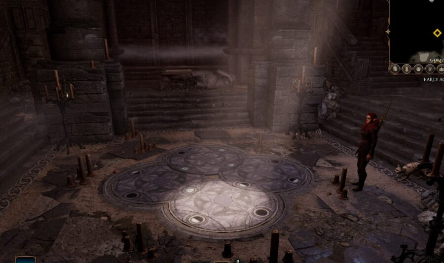 A screenshot of Baldur's Gate showing off the Moon Puzzle
