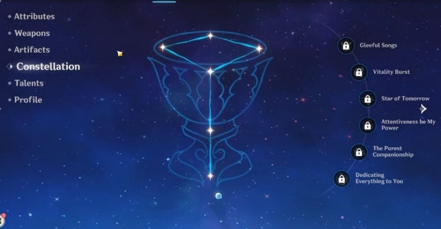 Barbara's locked constellation