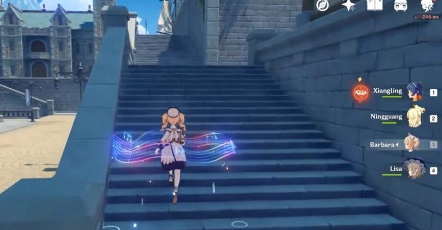 Barbara elemental skill in Genshin Impact