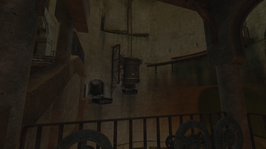 A screenshot showing off the cran puzzle in the cistern