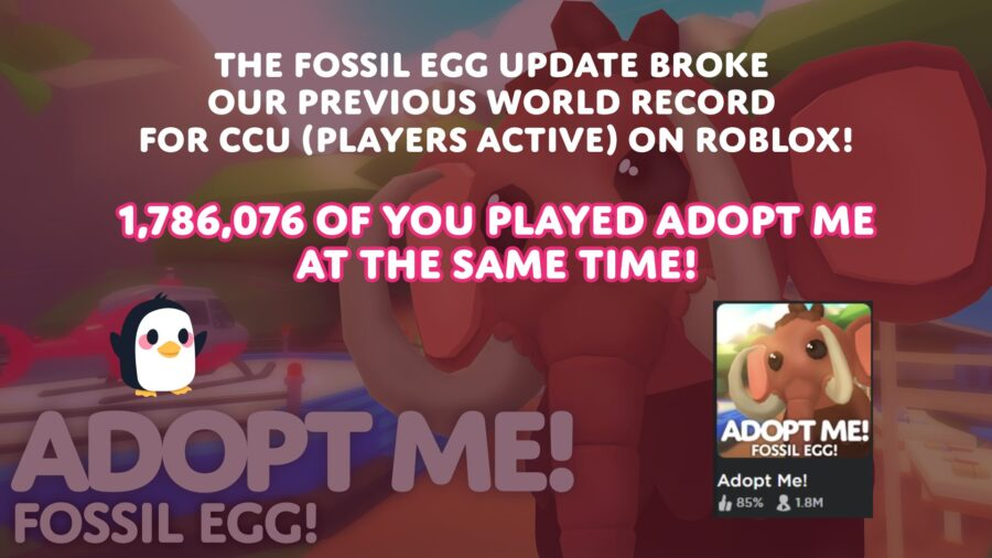 Adopt Me! record for most active players