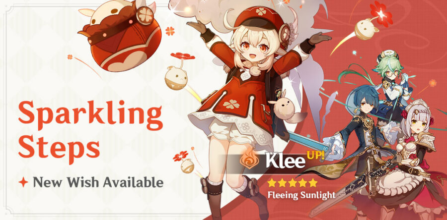 A picture of the new Klee Event Wish Banner called Sparkling Steps