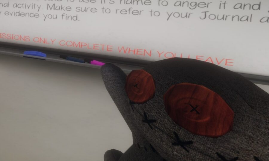 A screenshot of the Voodoo Doll in Phasmophobia