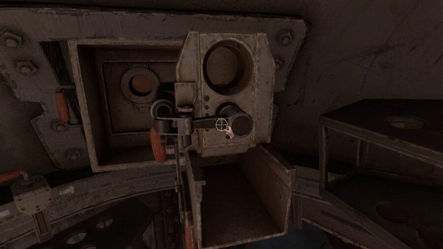 A screenshot of the inside of the Tank in Amnesia: Rebirth