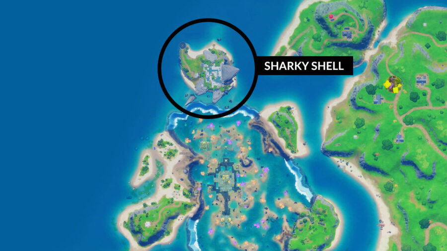 Sharky Shell map location in Fortnite