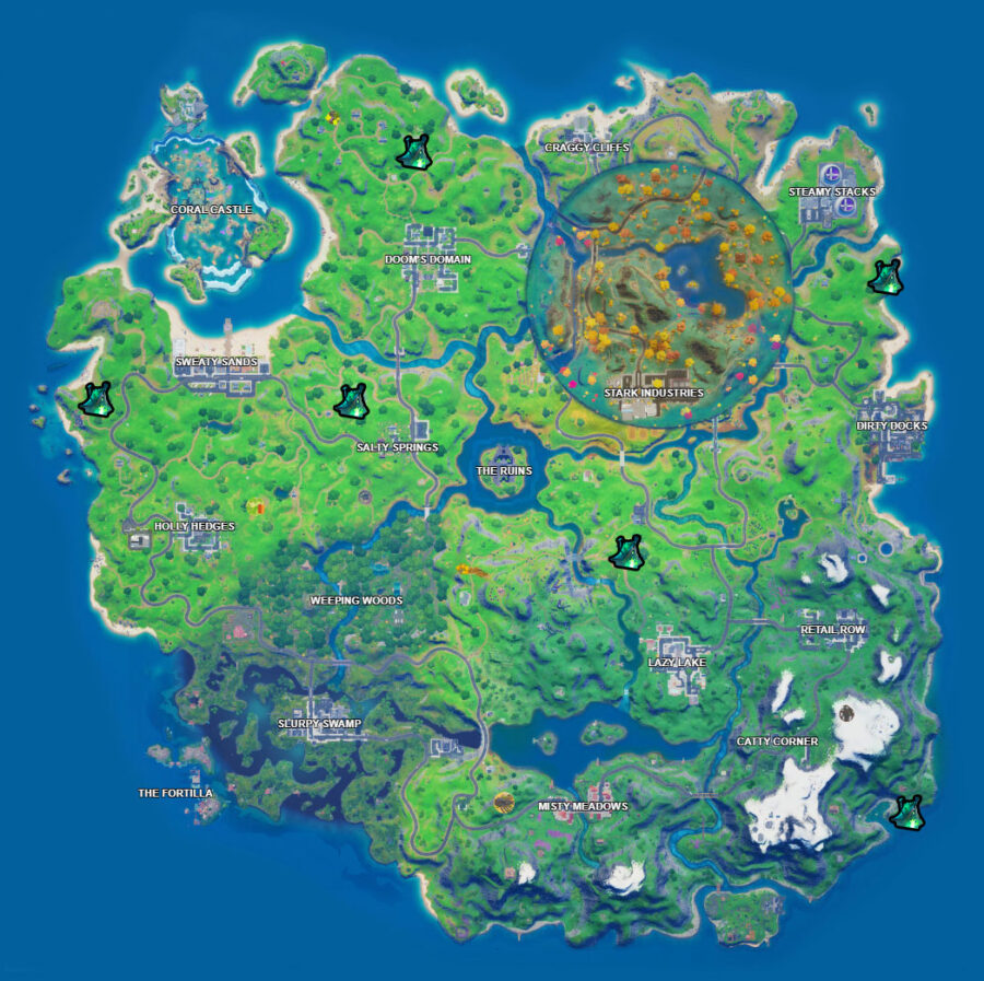 Witch Shack locations map