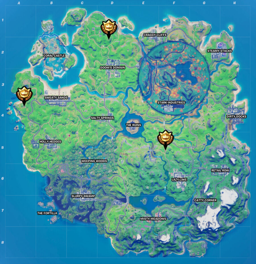 Fortnite Witch's Hut Location map