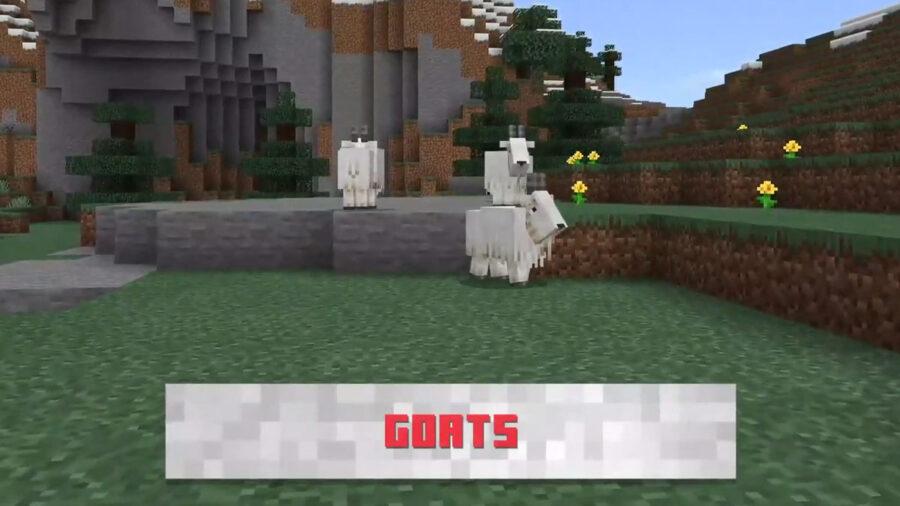 Minecraft Goats