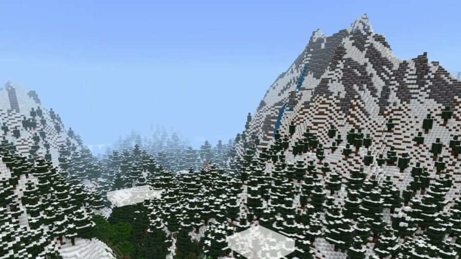 Larger mountain biome in Minecraft