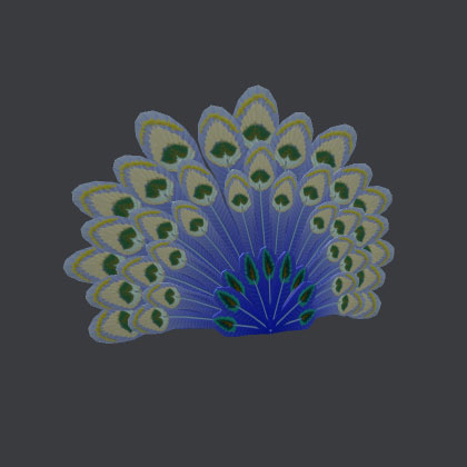 Roblox Wintery Peacock Tail