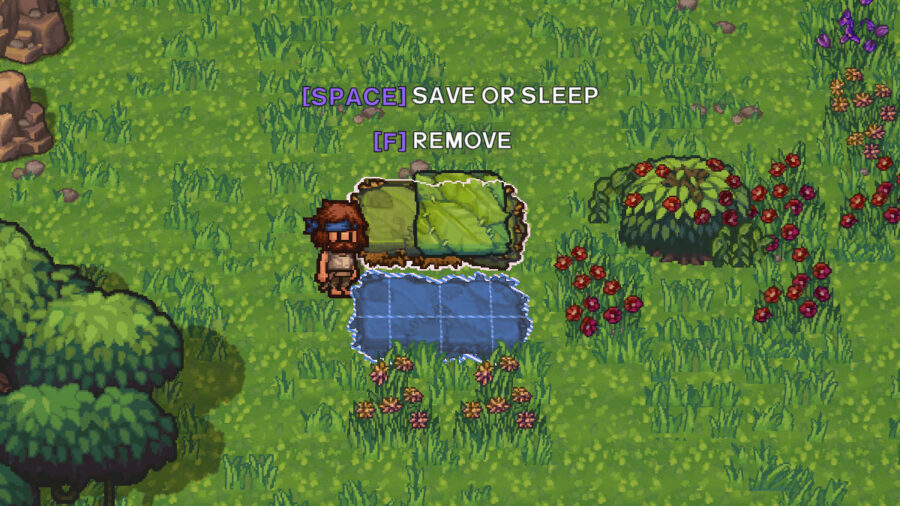 A placed bed in The Survivalists