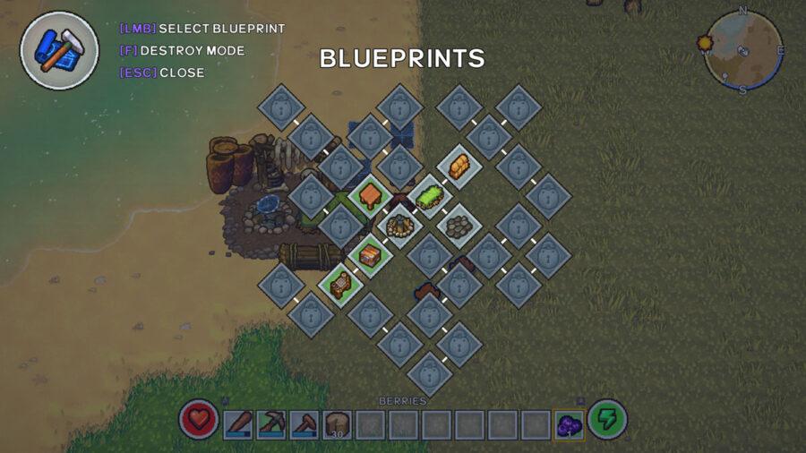 The Survivalists Blueprint menu