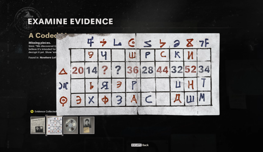 A screenshot of the Coded Message in Call of Duty Black Ops Cold War to decrypt the Floppy Disk