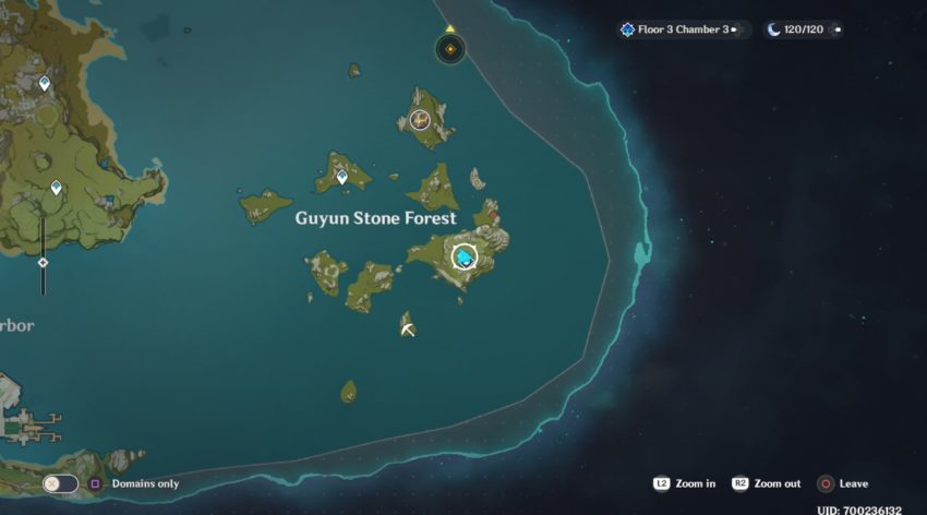 A screenshot of where the Crystalfly spawns in Liyue in Genshin Impact.