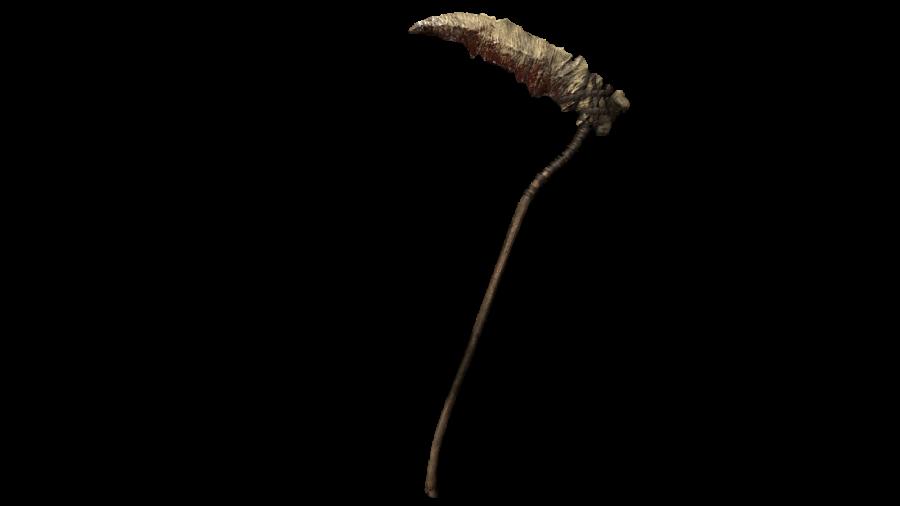 A picture of the Reaper Scythe Pre-order Bonus for Demon's Souls PS5