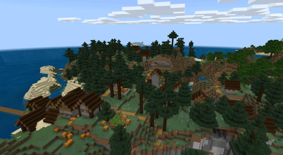 A Taiga Village in Minecraft.