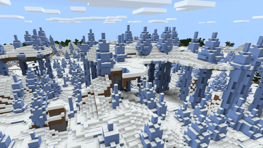 Screenshot of Ice Spires in Minecraft.