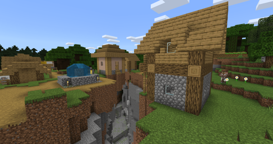 A Stronghold beneath a village.