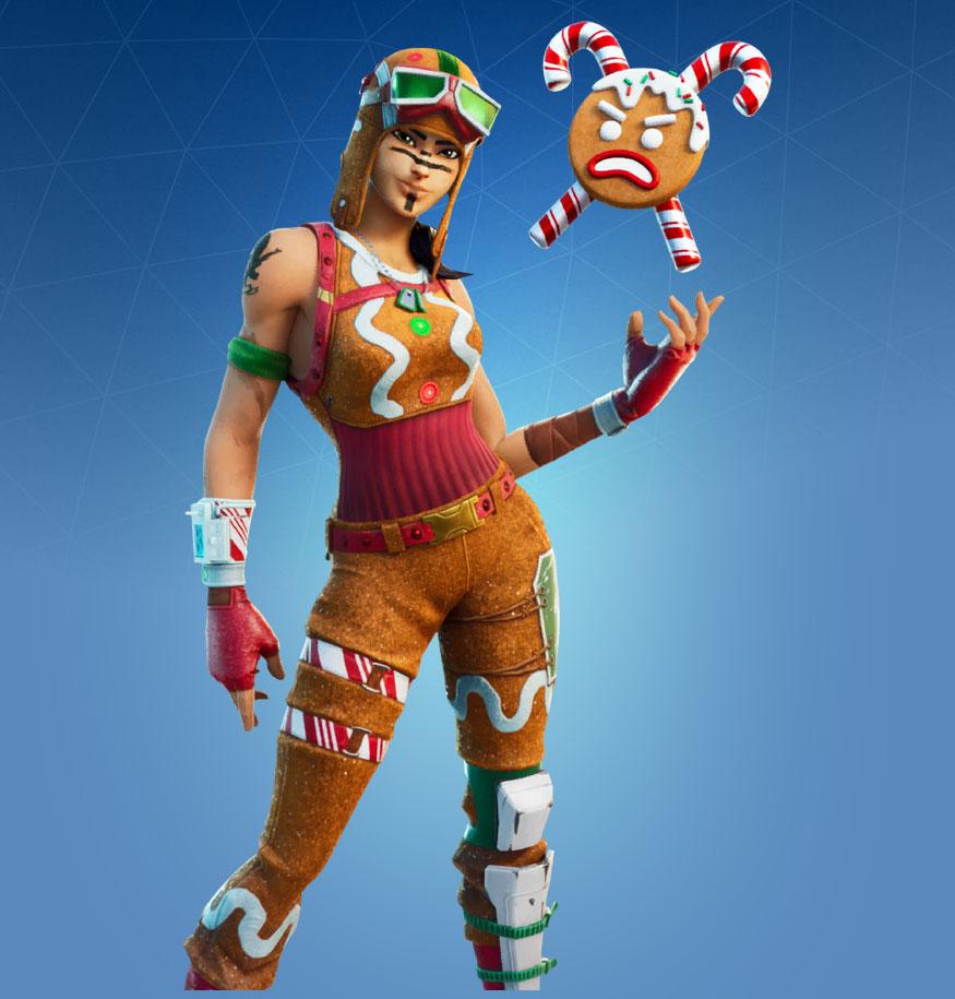 Gingerbread Raider Skin