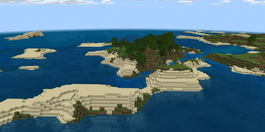 A Simple Minecraft Island Spawn.