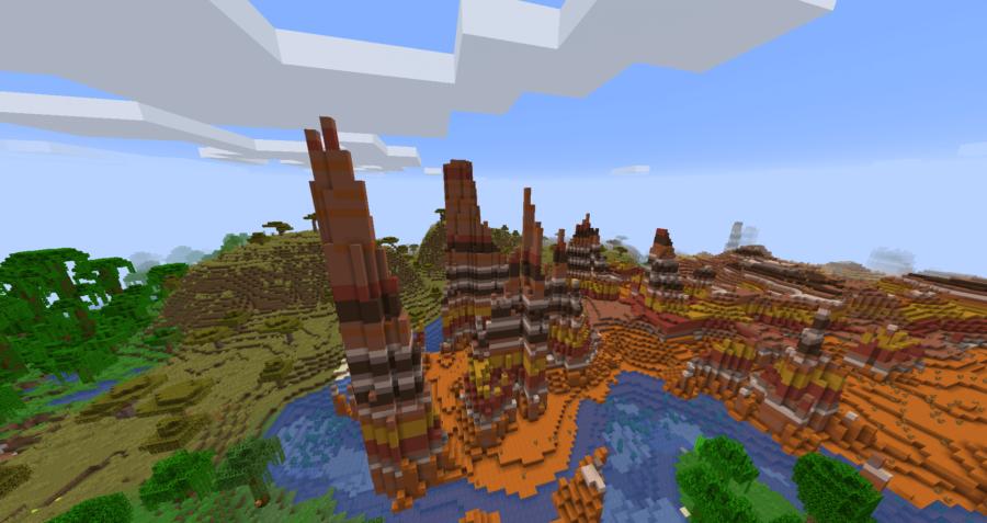 Minecraft Eroded Badlands Biome.